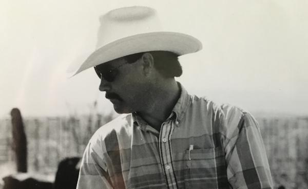 Lanny Copeland, seen during his cattle ranching career, says he was lucky to find his way into the booming Texas wind industry when he did.