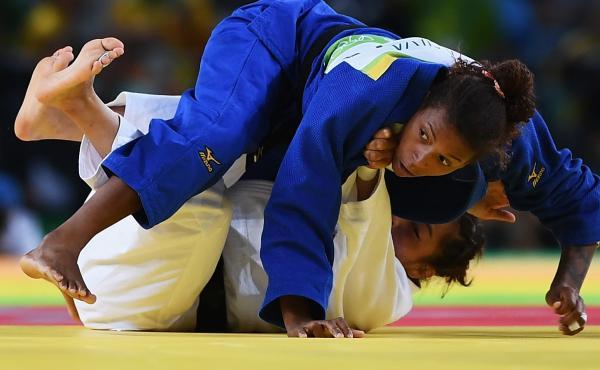 Silva defeated Sumiya Dorjsuren of Mongolia in the Women's 57 kg judo final in Rio.