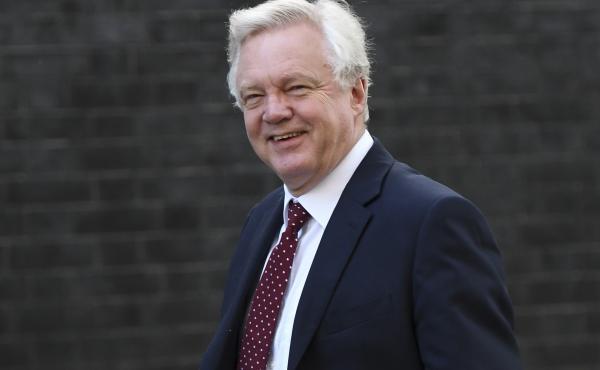 Brexit Secretary David Davis arrives at Downing Street ahead of the weekly Cabinet meeting last week in London.