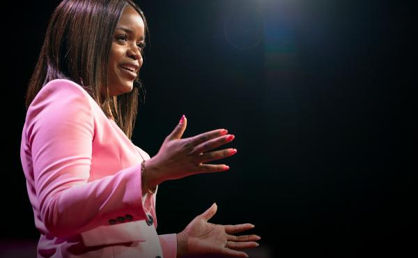 Brittany Packnett on the TED stage