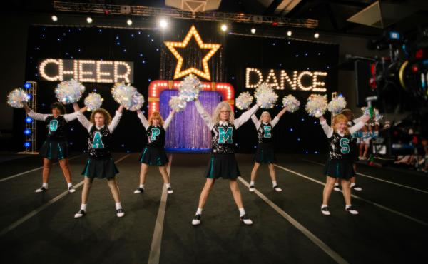 You've formed a Book Club — now let's see some spirit! Seniors go cheerleading in Poms.