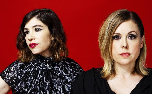 Carrie Brownstein and Corin Tucker of Sleater-Kinney.
