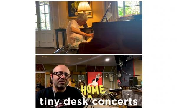 Burt Bacharach & Daniel Tashian plays a Tiny Desk (home) concert.