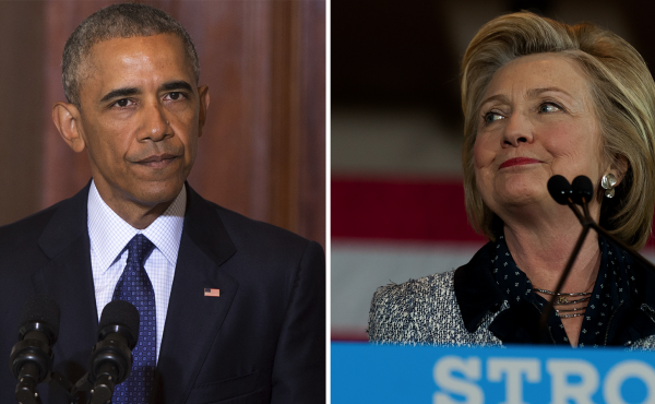 President Obama (L) and former Secretary of State Hillary Clinton (R) both responded to Donald Trump's comments on terrorism and gun control on Tuesday.