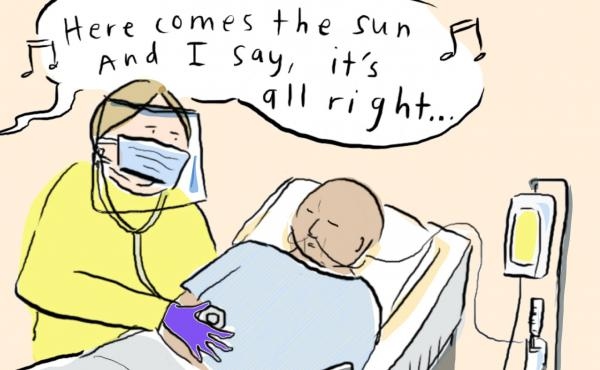 Grace Farris, Chief of Hospital Medicine at Mount Sinai West, explains how songs have become welcome hospital anthems in otherwise difficult times.