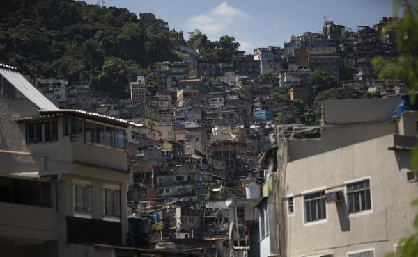 A view of Rocinha, Rio de Janeiro's largest favela, in March. A recent study showed almost 1 in 4 of those tested in Rocinha was infected with the coronavirus.