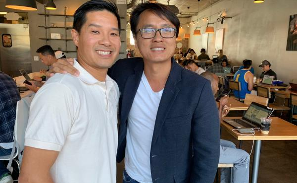 """Tam and Sonny Nguyen, Vietnamese-American cafe owners in the Orange County neighborhood of Little Saigon, say they see a """"stark difference"""" between the generations not just in their politics, but in how they do business."""