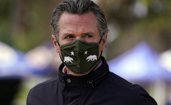 California Gov. Gavin Newsom, pictured on March 10, has come out swinging at Republicans leading the charge to remove him from office in a recall bid.