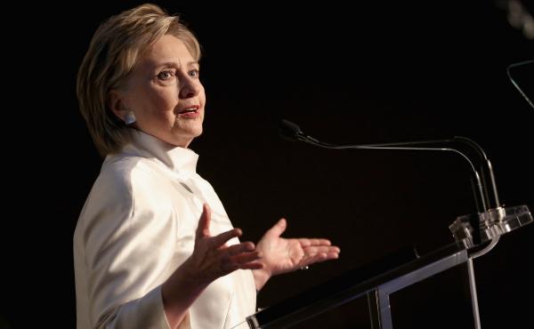 Hillary Rodham Clinton speakson June 7, 2017, in New York City.