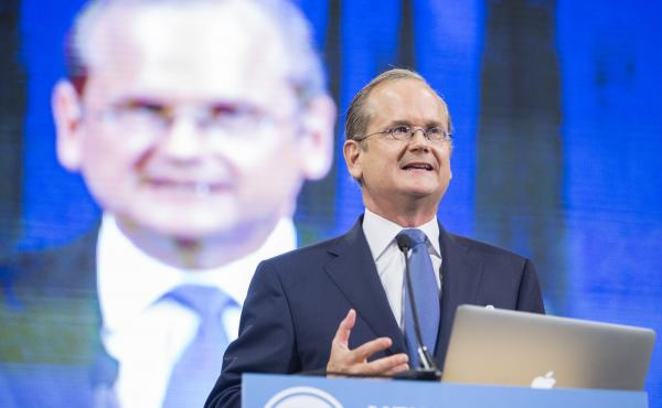 Harvard Law professor Lawrence Lessig is ending his presidential campaign after he says he would fail again to make the Democrats' debate stage.