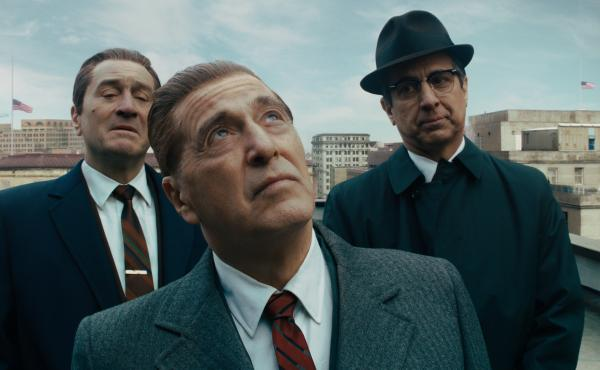 Robert De Niro (from left) stars with Al Pacino and Ray Romano as a mob hit man in Martin Scorsese's The Irishman.