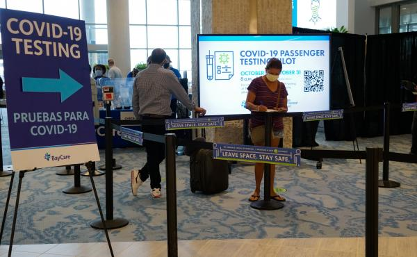 The Tampa International Airport has started coronavirus testing for passengers with a boarding pass or proof of a reservation for a flight in the near future.