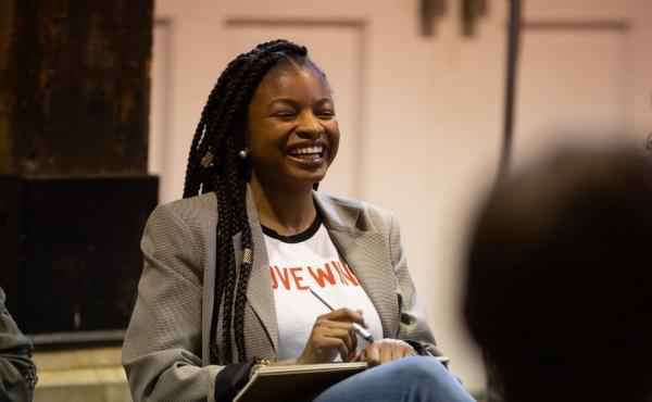Khadijah Ameen, 29, a woman who voted for Hillary Clinton in 2016, was among the participants of a weekend-long workshop with a dozen people of varying political views.