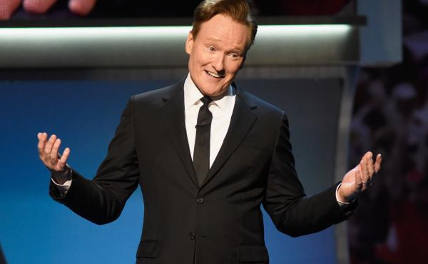 Conan O'Brien in 2016. He is being sued by a writer who accuses him of stealing jokes. O'Brien says the idea of stealing someone else's comedy makes him physically ill.
