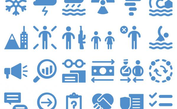 UNOCHA's new set of icons aims to streamline communication in response to humanitarian crises.
