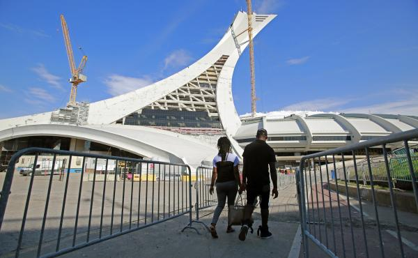 The Olympic Stadium in Montreal was temporarily used as a migrant shelter in 2017. Canada has seen thousands of migrants entering the country from the U.S., avoiding official entry points and requesting asylum.
