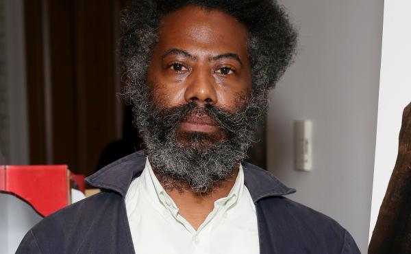 Composer and sound artist Robert Aiki Aubrey Lowe, photographed during a screening of Candyman on Aug. 17, 2021 in New York.