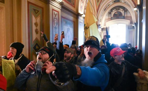 Demonstrators breached security and entered the Capitol as Congress debated the 2020 electoral vote tally on Wednesday.
