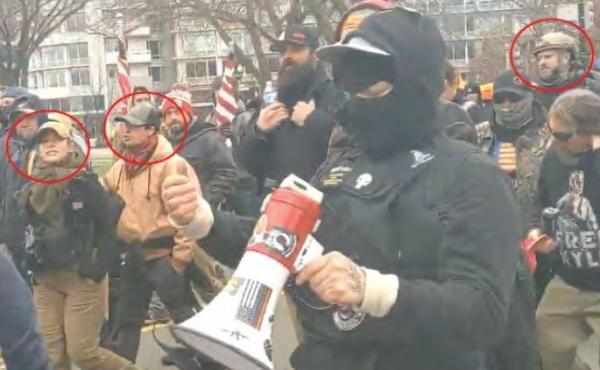 The FBI says it has identified five people arrested on Thursday as being part of a Proud Boys group that participated in the Capitol Riot.