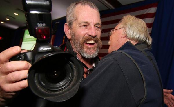 Longtime Associated Press photographer Jim Cole has covered every New Hampshire presidential primary since 1980.