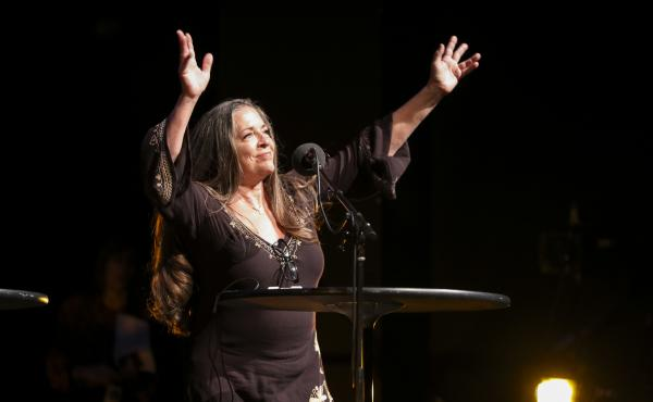 Carlene Carter appears on Ask Me Another at TPAC's Polk Theater in Nashville, Tennessee.