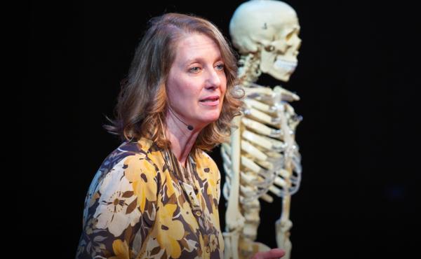 Carolyn Freiwald speaks at TEDxUniversityofMississippi 2020. Photo courtesy of TED.