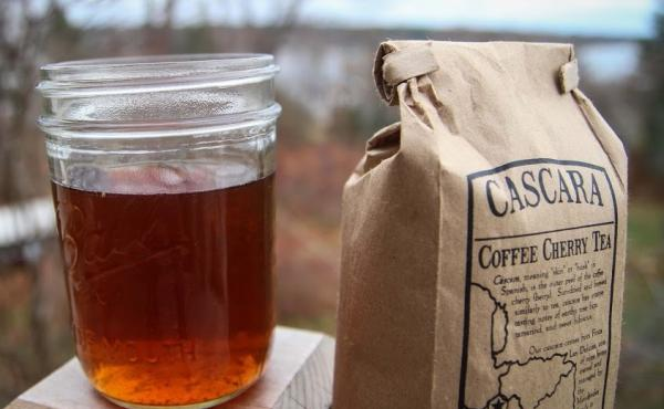 """Cascara is made by brewing dried coffee cherries, which typically would have otherwise ended up as compost. """"We have been throwing away this perfectly good coffee fruit for a long time, and there's no real reason for it, because it tastes delicious,"""" says"""