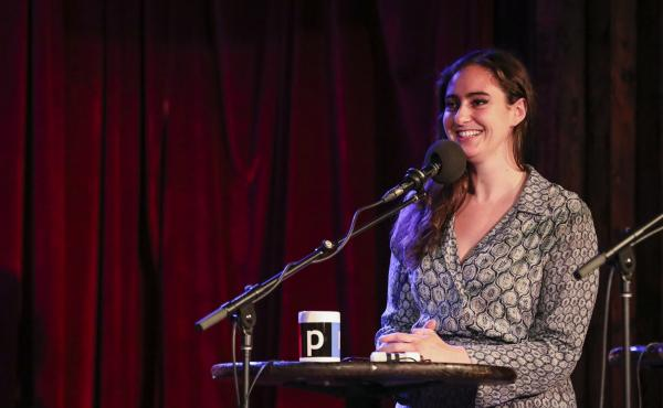 Catherine Cohen appears on Ask Me Another at the Bell House in Brooklyn, New York.