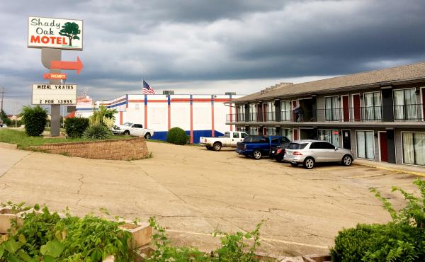 Many of Branson's dozens of extended stay motels sit alongside the same main strip as tourist attractions like music theaters and theme restaurants.