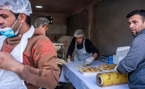 A pop-up bakery in the town of Shoubak, Jordan, offers traditional Ramadan dessert known as qatayef a day before the start of the holy month.