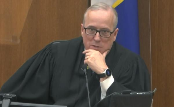 Hennepin County Judge Peter Cahill discusses motions before the court Monday. He denied the defense request to question jurors again after a fatal police shooting Sunday and immediately sequester them in the trial of former Minneapolis police officer Dere
