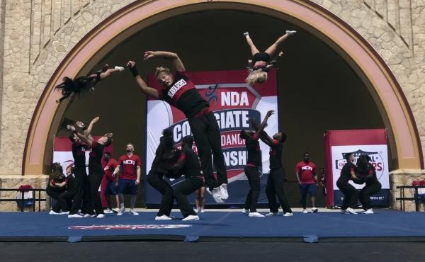 The Navarro College team competes at the national championships.