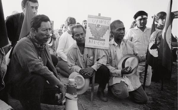 Rodriguez often documented agricultural workers' protests in the inland town of Delano, Calif. This photo was taken in 1969.
