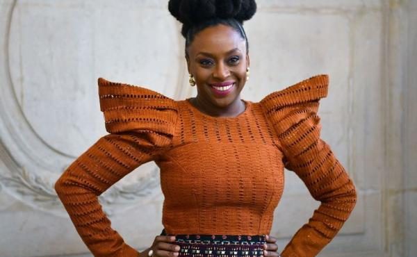 Nigerian writer Chimamanda Ngozi Adichie in Paris in Jan. 2020.