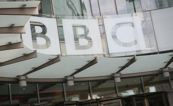 """China's broadcasting regulator said Thursday that the BBC had """"undermined China's national interests and ethnic solidarity"""" and was banning the British broadcaster's world service. The BBC headquarters in London are seen here in 2016."""