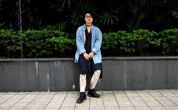 Xiao Meili, 28, is a feminist activist in Guangzhou, China.