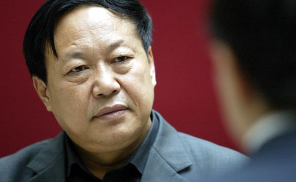 """Sun Dawu, shown here in 2005, was sentenced Wednesday in a court in China's Hebei province. The billionaire pig farmer was found guilty of eight charges, including gathering crowds to attack state agencies, illegal fundraising and """"provoking trouble."""""""