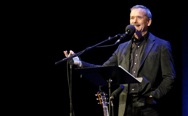 Chris Hadfieldappears on NPR's Ask Me Another at The Warner Theatre in Washington, D.C.