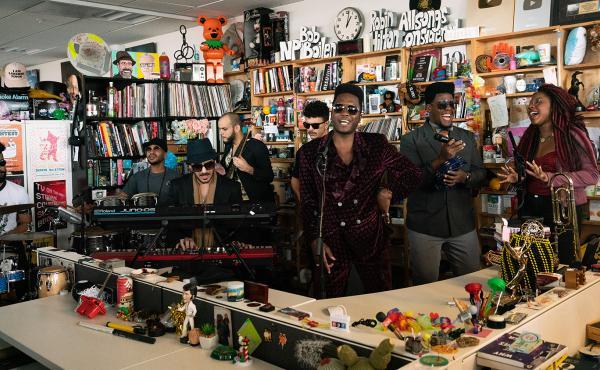 Cimafunk plays a Tiny Desk concert (Laura Beltran Villamizar/NPR).