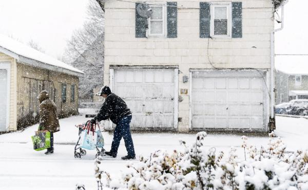 This is the second nor'easter to hit the Northeast within a week, bringing snow and high winds, raising fears of another round of electrical outages.