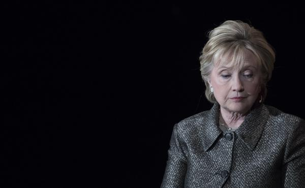 Hillary Clinton speaks during the Women in the World Summit at Lincoln Center in New York in April.