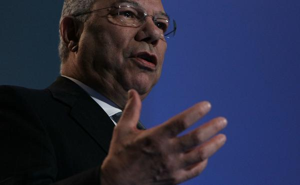 Colin Powell, a former secretary of state and chairman of the Joint Chiefs, has died at age 84. Above, Powell speaks at eBay headquarters in California in 2010.