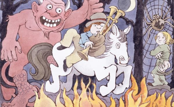 Maurice Sendak wrote and illustrated Where the Wild Things Are and In the Night Kitchen. The illustration above is from Presto and Zesto in Limboland, a book he completed with his friend Arthur Yorinks more than 20 years ago. Sendak died in 2012.