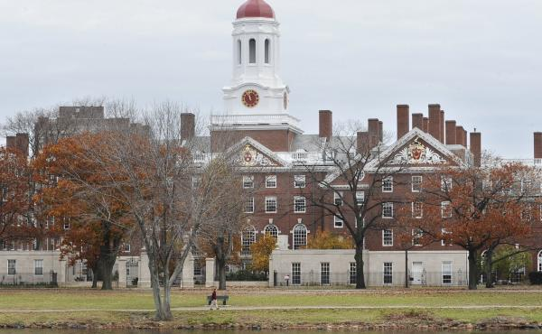 "A file photo shows the campus of Harvard University in Cambridge, Mass. Dr. Anthony Rostain, co-author of The Stressed Years of Their Lives, says today's college students are experiencing an ""inordinate amount of anxiety."""
