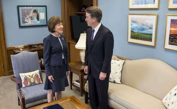 """We covered a wide range of issues, and it was very helpful, very productive and very important,"" Sen. Susan Collins said of her meeting with Supreme Court nominee Brett Kavanaugh on Tuesday."