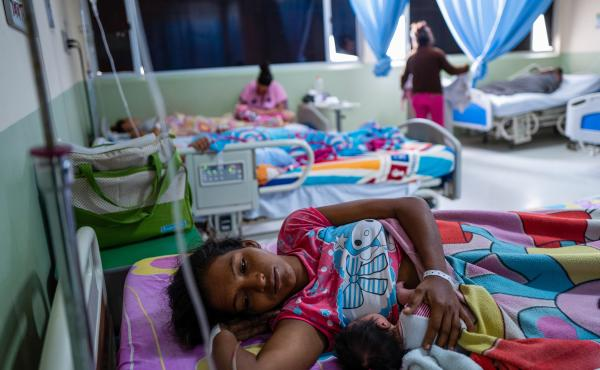 A corridor of newborns at the San Jose de Maicao Hospital in Maicao, Colombia. Venezuelan migrants have given birth to more than 25,000 infants in Colombia over the past two years.