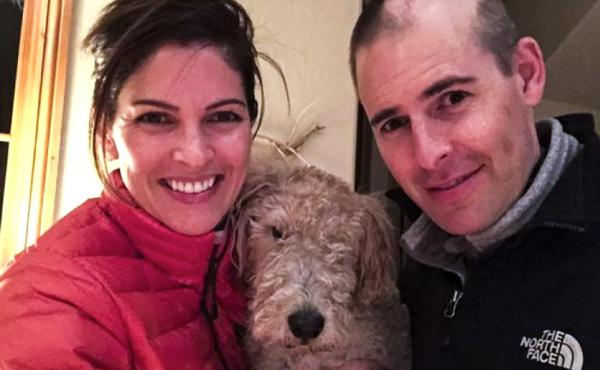 Matt Larson, shortly after his brain surgery, with his wife Kelly. Larson says he would like the option to end his life rather than face a painful death.