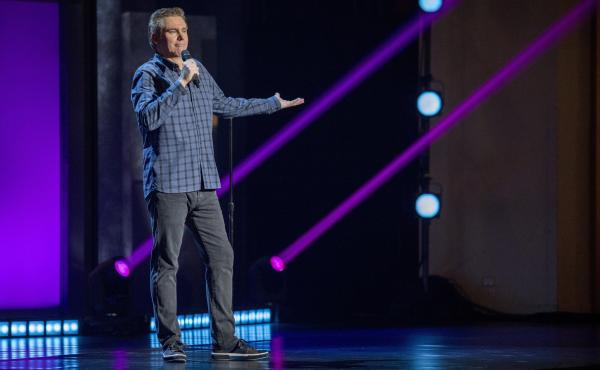 The comedian Brian Regan, pictured here in his Netflix special Nunchucks and Flamethrowers, has earned a reputation as a comic's comic.