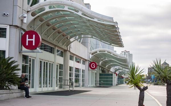Like last year, the sidewalks around San Diego's convention center are empty and no one is lined up at the famed Hall H.