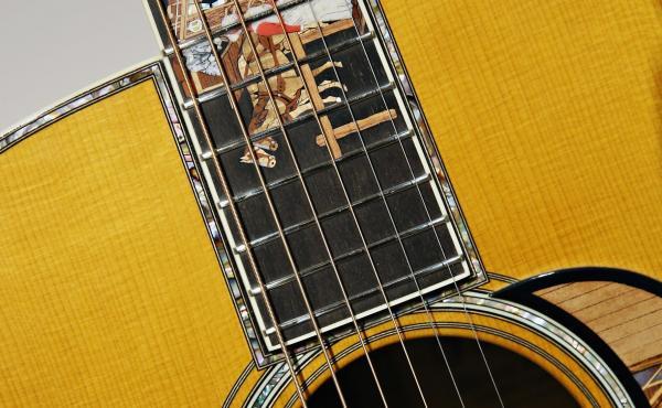 A rosewood-body guitar, ca. 2004.
